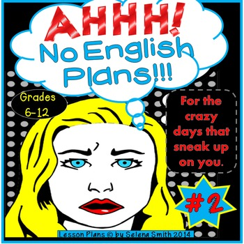Sub Plans for Middle School and High School English #2