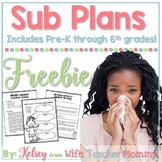Free Sub Plans for Substitute Mini Lessons. Emergency Sub Plans.