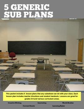 Sub Plans (generic sub plans)