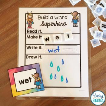 Kindergarten Sub Plans or One Day Unit: Superhero Edition