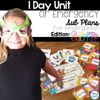 Superhero 1 Day Unit or Sub plans