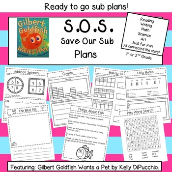 Sub Plans with Gilbert Goldfish Wants a Pet