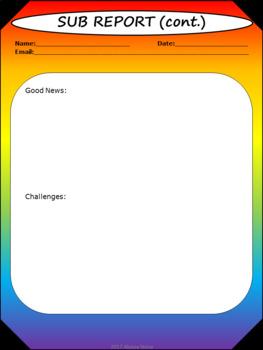Sub Report - Noah's Rainbow