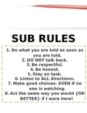 Sub Rules Poster