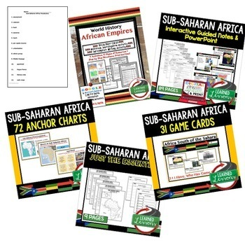 Sub-Saharan Africa BUNDLE (World Geography BUNDLE), Digital Distance Learning