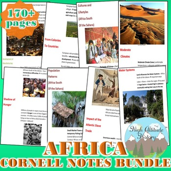 Africa Cornell Notes Bundle (Geography)