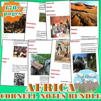 Africa Cornell Notes *Bundle* Sub-Saharan Africa Culture R