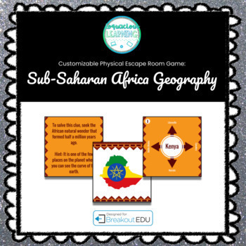 Sub-Saharan Africa (Geography) Breakout Game (Content Below)