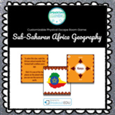 Sub-Saharan African Geography Customizable Escape Room / Breakout Game