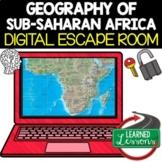 Sub-Saharan Africa Geography Digital Escape Room Breakout