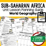 Sub-Saharan Africa Lesson Plan Guide for World Geography B