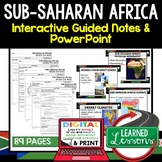 Sub-Saharan Africa Notes and PowerPoints Geography Print, Digital, Google