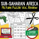 Sub-Saharan Africa Picture Puzzle, Test Prep, Unit Review, Study Guide