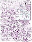 Sub-Saharan Africa Sketch Notes Sheet