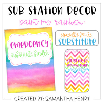 Sub Station Decor - Paint Me Rainbow