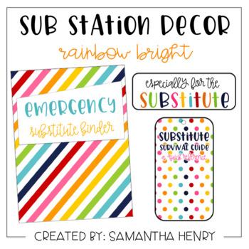 Sub Station Decor - Rainbow Bright