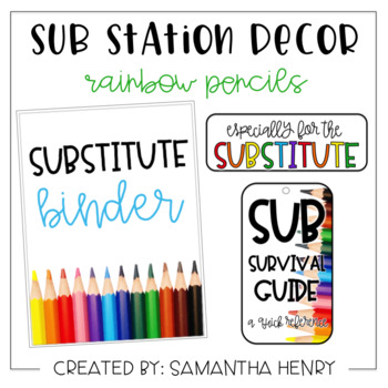 Sub Station Decor - Rainbow Pencils