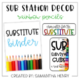 Sub Station Decor - Rainbow Pencils