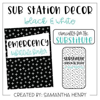 Sub Station Decor Set - Black & White