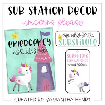 Sub Station Decor - Unicorns