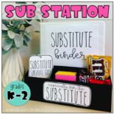 Sub Station Kit *Grades K-2* | For the Substitute