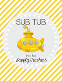 Sub Tub - Substitute Binder *EDITABLE*