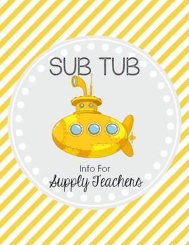 Sub Tub - Substitute Binder *EDITABLE*