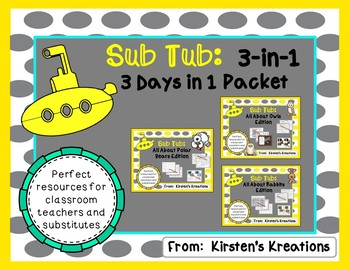Sub Tub:  3-in-1 Packet