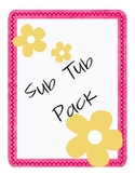 Sub Tub Forms Pack - Includes matching dividers