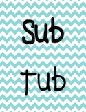Sub Tub Label & Table of Contents