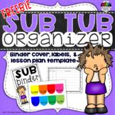 Sub Tub Organizer for Substitute Lesson Plans