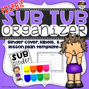 Sub Tub Organizer for Substitute Lesson Plans
