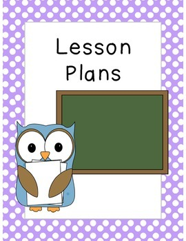 Sub Tub:  Owl Themed Polka Dot Substitute Binder Covers