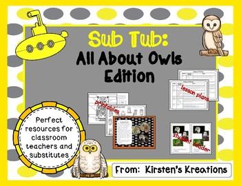 Sub Tub:  Owls Edition