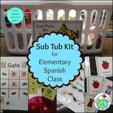 Sub Tub Plans Kit for Elementary Spanish Class Printable R