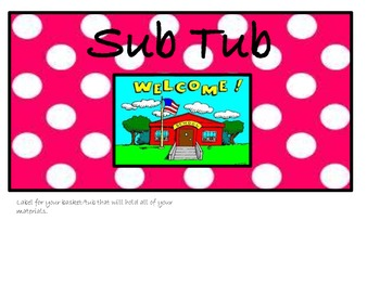 Sub Tub Polka Dot Label