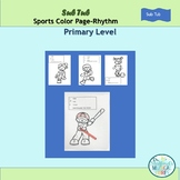 Sub Tub Primary Rhythm Sports Notes Color Pages