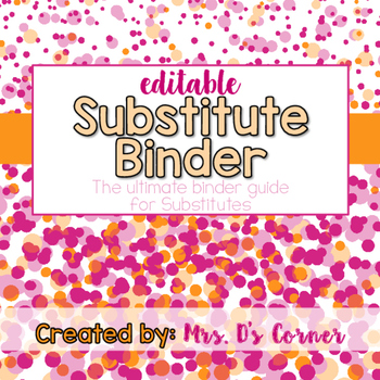 Sub Tub - Ribbon and Dots - The Ultimate Substitute Teacher Binder Guide
