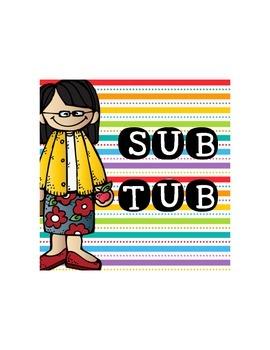 Sub Tub Sign {Freebie}