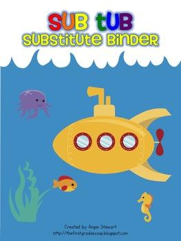 Sub Tub Substitute Binder for Emergency Sub Plans