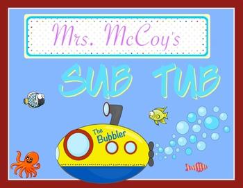 Sub Tub- Substitute Resource Bin