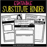 EDITABLE SUB TUB: everything your sub needs {BINDER FORMAT, TOO!}