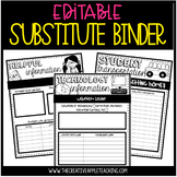 Editable Substitute Binder {tub format, too!}