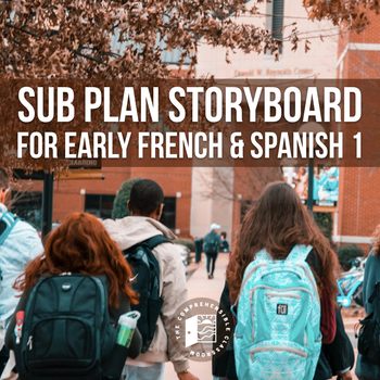 Spanish Substitute Activities: Camina y corre storyboard