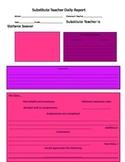 Sub feedback report paper to teachers