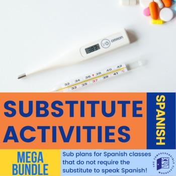 Sub plan storyboards for Spanish MEGA BUNDLE