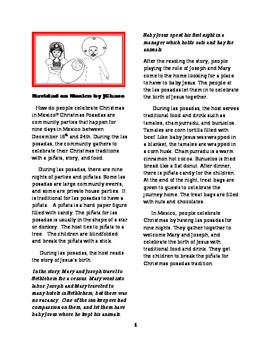 Sub plans Navidad en Mexico English Close Read for Spanish