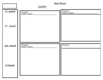 Sub plans Template