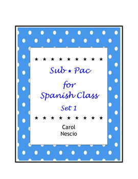 Sub * Pac for Spanish Class Set 1