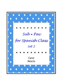 Sub * Pac for Spanish Class Set 2